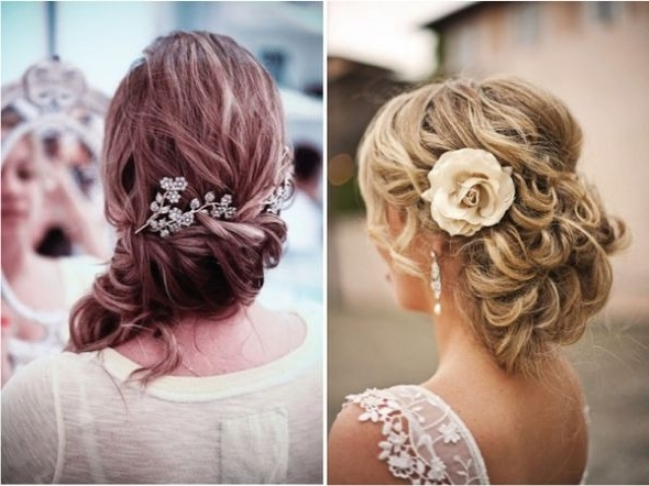Cute And Modern Wedding Hairstyles Curly Side Bun   Elite Wedding Looks Inside Curly Side Bun Wedding Hairstyles (View 3 of 15)