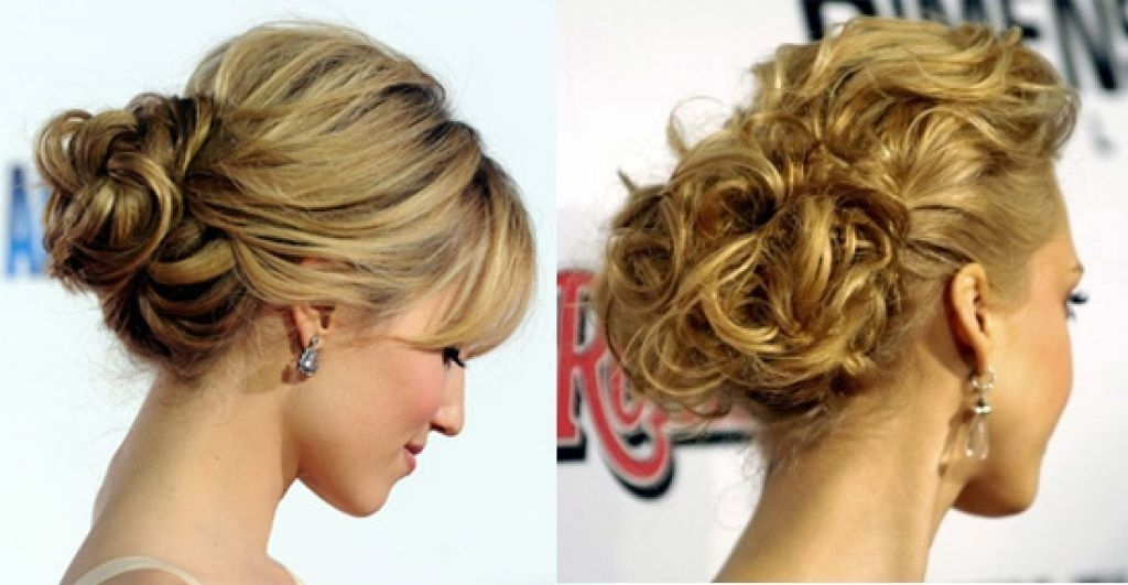 Cute And Modern Wedding Hairstyles For Curly Side Bun | Wedding In Side Bun Wedding Hairstyles (View 3 of 15)