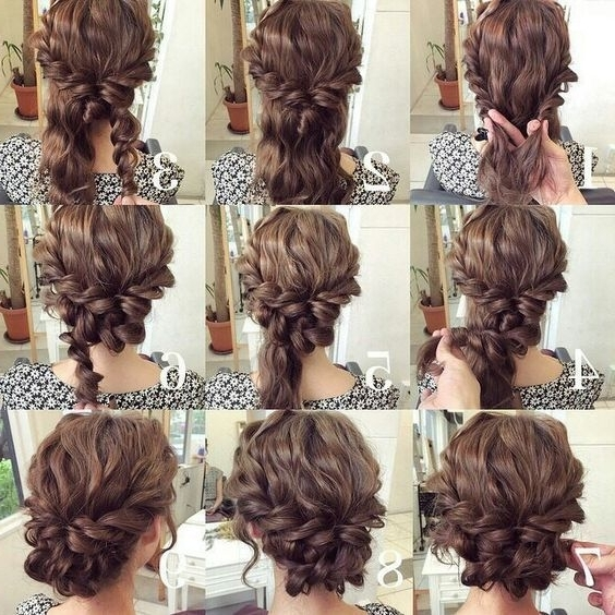 Cute Easy Updo For Long Hair 2017 | Gorgeous Updos | Pinterest Throughout Easy Wedding Hair For Bridesmaids (View 6 of 15)