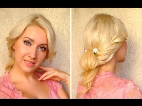 Cute Everyday Updo Tutorial Hairstyle For Long Hair That Cover Hide Pertaining To Wedding Hairstyles That Cover Ears (View 11 of 15)