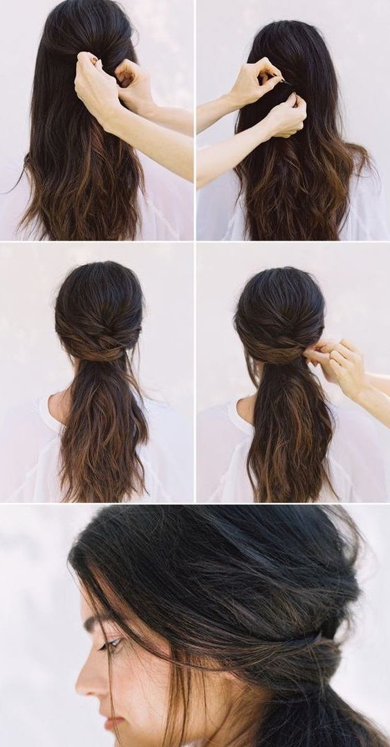 Cute Hairstyles For Medium Length Hair Impressive Long Thick Updos With Regard To Easy Wedding Hairstyles For Long Thick Hair (View 6 of 15)