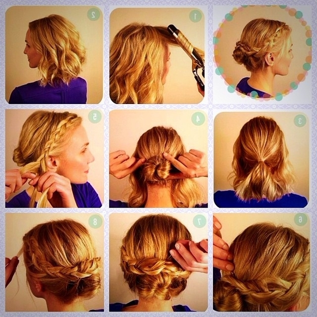 Cute Updos For Short Hair – Hairstyles Ideas Within Casual Wedding Hairstyles For Short Hair (View 4 of 15)