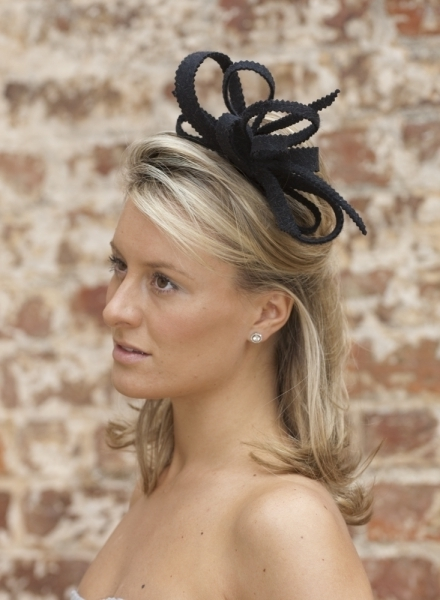 Daffodil Fascinator – Hostie Hats With Wedding Guest Hairstyles For Medium Length Hair With Fascinator (View 5 of 15)
