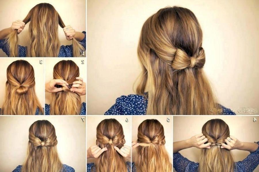 Diy Wedding Hairstyle Tutorial For Long Hair ? Simple Wedding Bow With Regard To Diy Simple Wedding Hairstyles For Long Hair (View 7 of 15)