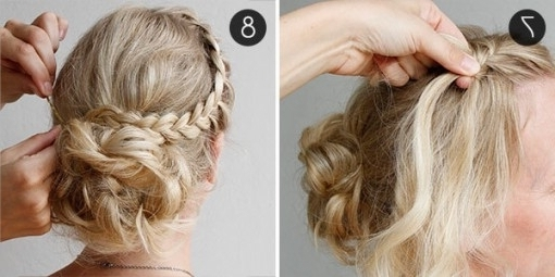 Diy Your Wedding Day Hairstyle With This Braided Updo | More Intended For Diy Wedding Hairstyles (Gallery 14 of 15)