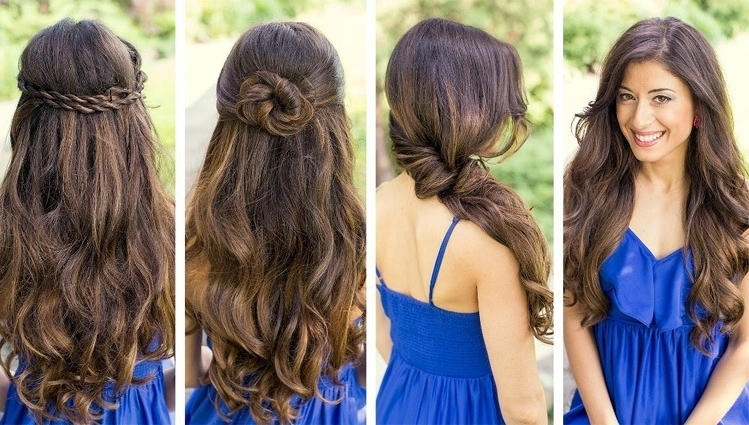 Easy Bridesmaid Hairstyles For Long Hair | What A Weddings Within Easy Wedding Hairstyles For Bridesmaids (View 8 of 15)