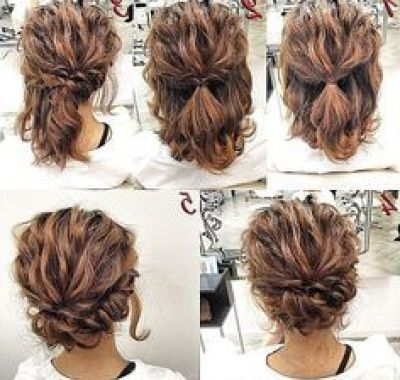 Easy Bridesmaid Hairstyles For Short Hair   Hair   Pinterest Inside Easy Bridesmaid Hairstyles For Medium Length Hair (View 2 of 15)