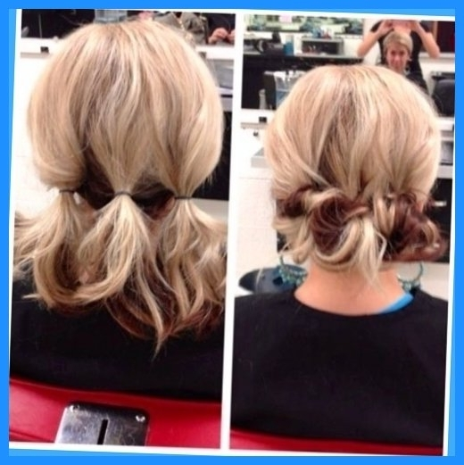 Easy To Do Updos For Short Hair – Hairstyles Ideas Regarding Easy Bridesmaid Hairstyles For Medium Length Hair (View 10 of 15)