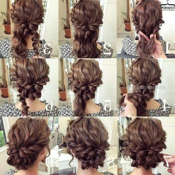 Easy Updo For Curly Hair. Wedding Hair. Prom Hair… (View 9 of 15)