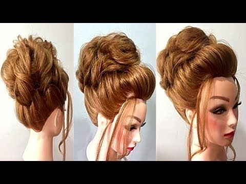 Easy Wedding Hairstyle For Long Medium Hair | Bridal Wedding Hairst Inside Easy Indian Wedding Hairstyles For Long Hair (View 4 of 15)