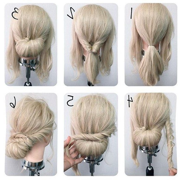 Easy Wedding Hairstyles Best Photos – Cute Wedding Ideas | Pinterest Within Easy Wedding Guest Hairstyles For Short Hair (View 7 of 15)