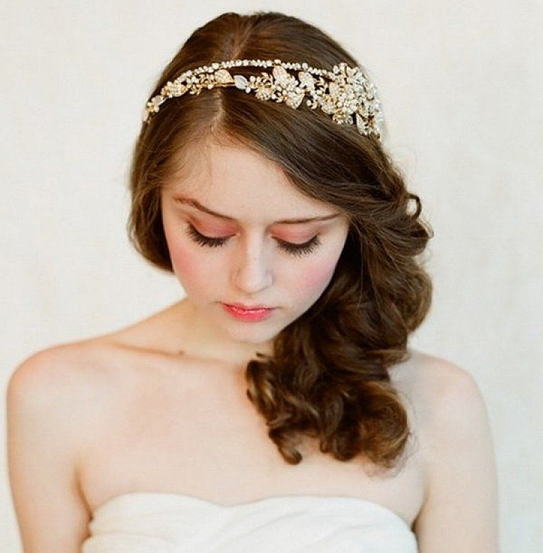 Easy Wedding Hairstyles For Medium Length Hair With Headbands #prom Within Wedding Hairstyles For Shoulder Length Hair With Tiara (View 14 of 15)