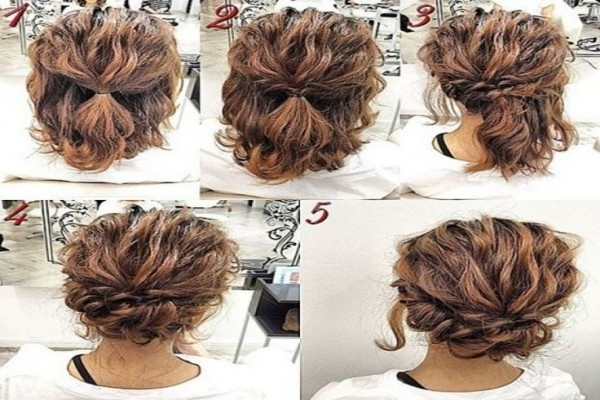 Easy Wedding Hairstyles For Short Hair – Wedding Party Decoration With Easy Wedding Hair For Bridesmaids (View 10 of 15)