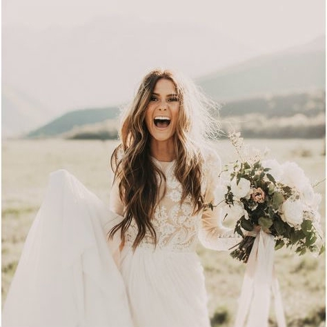 Effortless Chic | Boho Bridal Hairstyles For Carefree Bride Regarding Wedding Hairstyles For Long Boho Hair (View 11 of 15)