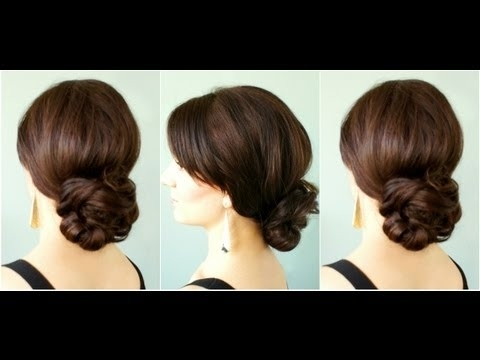 Elegant Low Bun – Youtube Throughout Wedding Hairstyles For Long Low Bun Hair (View 11 of 15)