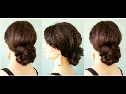 Elegant Low Bun – Youtube Throughout Wedding Hairstyles For Long Low Bun Hair (View 7 of 15)