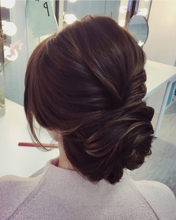 Elegant Low Updo Bridal Wedding Hairstyles – Emmalovesweddings Intended For Low Updo Wedding Hairstyles (View 9 of 15)
