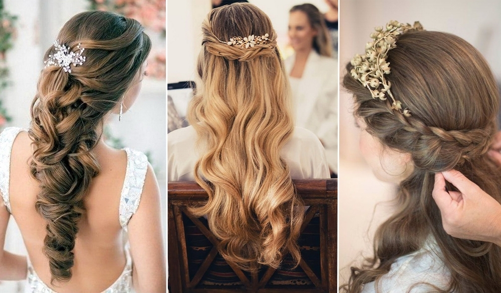 Elegant Wedding Hairstyles: Half Up Half Down | Tulle & Chantilly Intended For Elegant Wedding Hairstyles For Long Hair (View 10 of 15)