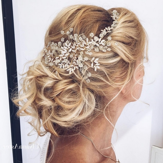 Elegant Wedding Hairstyles With Headpieces – Livingly Pertaining To Elegant Wedding Hairstyles For Long Hair (View 9 of 15)