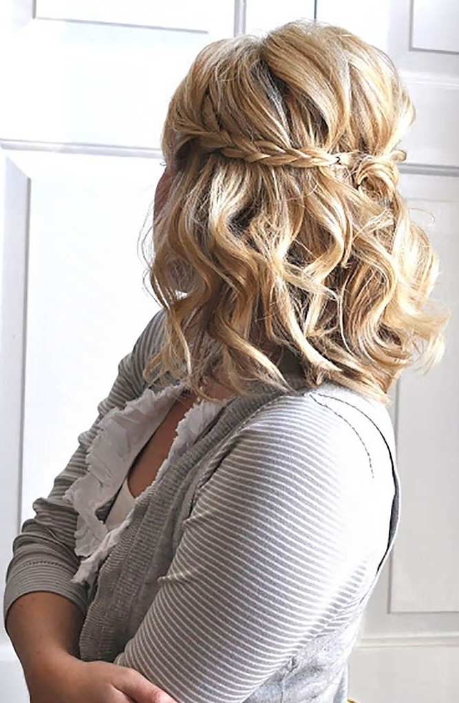 Emejing Short Hairstyles For Wedding Bridesmaid Contemporary Pertaining To Country Wedding Hairstyles For Short Hair (View 12 of 15)