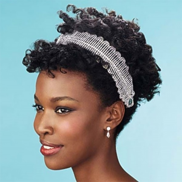 Emejing Wedding Hairstyles For Short Natural Hair Ideas – Styles Pertaining To Bridal Hairstyles For Short Afro Hair (View 12 of 15)
