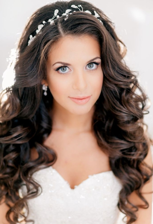 Endearing Wedding Hairstyles For Long Hair Down On Bridal Hairstyles In Long Hair Down Wedding Hairstyles (View 5 of 15)