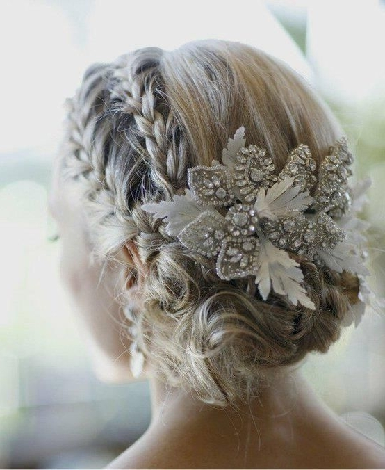Ethereal And Enchanting Make Up | Winter Wedding Hair, Plaits And Intended For Wedding Hairstyles With Plaits (View 12 of 15)
