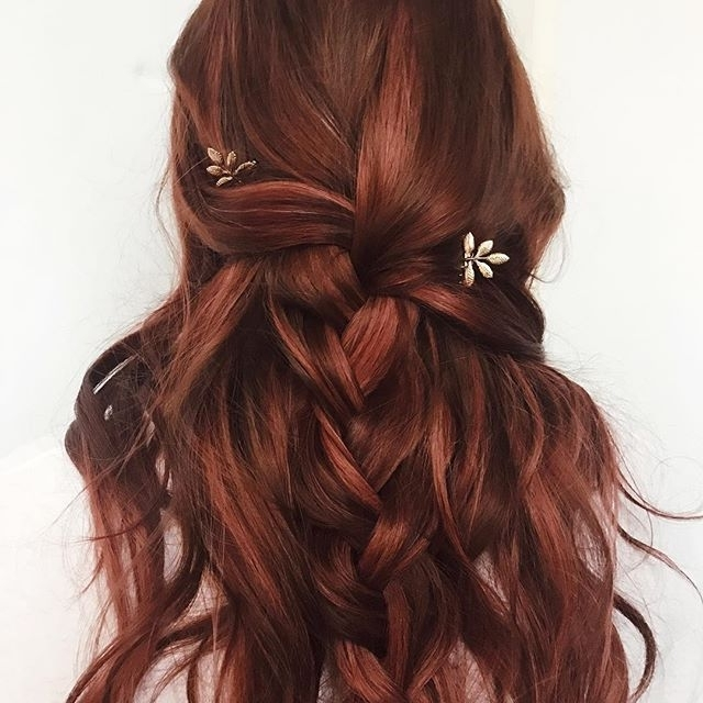 Fancy Braided Hairstyles Wedding Hairstyle Red Auburn Hair | New Regarding Wedding Hairstyles For Long Red Hair (View 8 of 15)