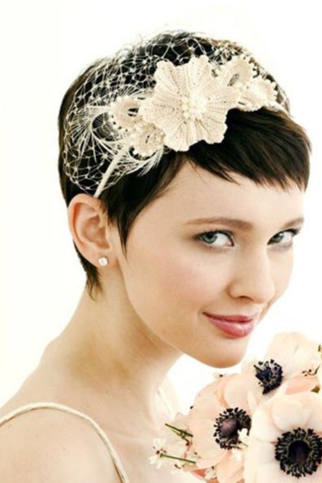 Fancy Hairdos For Short Hair – Hairstyles Ideas Pertaining To Wedding Hairstyles For Very Short Hair (View 8 of 15)