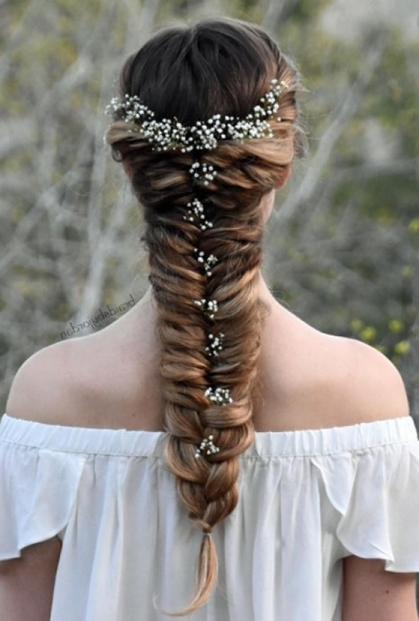 Fishtail Braid Wedding Hairstyles That Is Simple One – Beauty Long In Fishtail Braid Wedding Hairstyles (View 8 of 15)