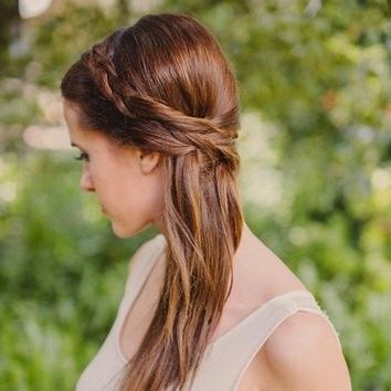 Fishtail Side Braid Wedding Hairstyle | Brides Within Side Braid Wedding Hairstyles (View 6 of 15)