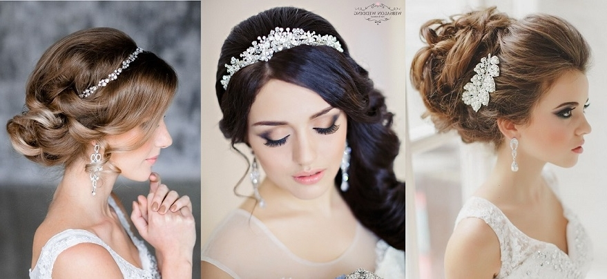 Featured Photo of Wedding Hairstyles With Hair Accessories