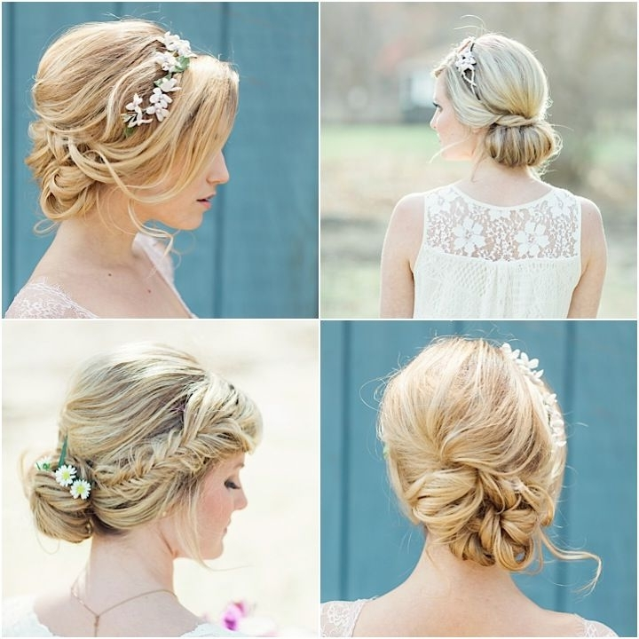 Flower Power: Classic Floral Wedding Hairstylesjackie Schneider Inside Classic Wedding Hairstyles (View 3 of 15)