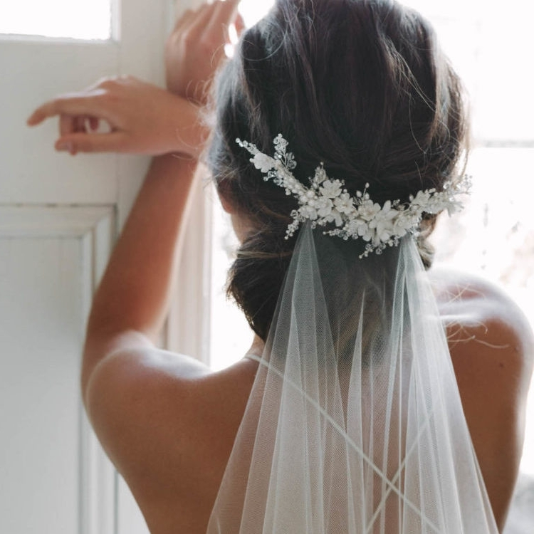 Flying High | Wedding Veils Above Or Below The Bun For Wedding Hairstyles With Veil Underneath (View 8 of 15)