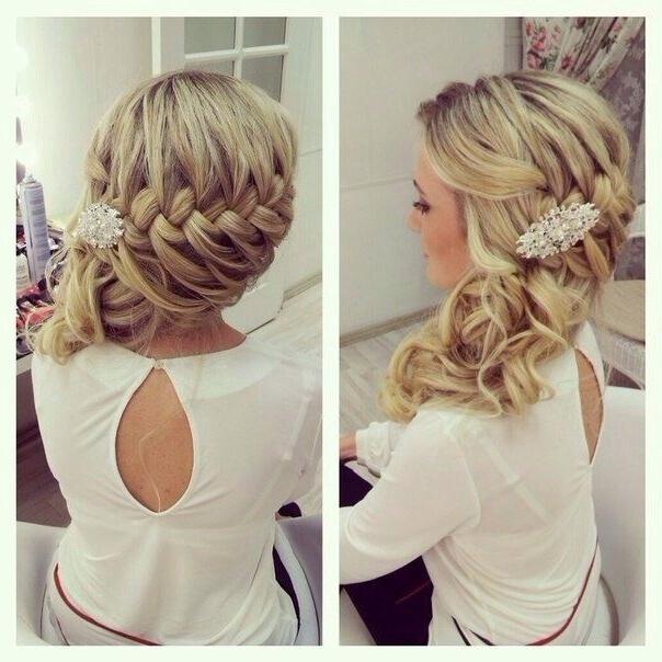Fonott Menyasszonyi Frizura 6 , Bridal Hair Braids 6 Www.elstile (View 15 of 15)