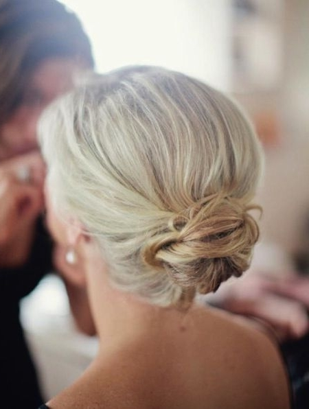Formal Hairstyles For Medium Length Hair – Low Bun Hairdo For Pertaining To Wedding Hairstyles For Medium Length With Blonde Hair (View 9 of 15)