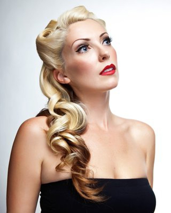 Formal Hairstyles For Vintage Pin Up Hairstyles For Long Hair Retro For Pin Up Wedding Hairstyles (View 6 of 15)