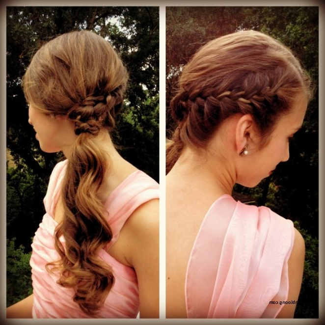 Formal Hairstyles Side Ponytail With Braid Beautiful Emily S Pertaining To Wedding Hairstyles With Side Ponytail Braid (View 5 of 15)