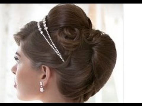 French Roll Hairstyle Forr Wedding – Youtube For Roll Hairstyles For Wedding (View 7 of 15)