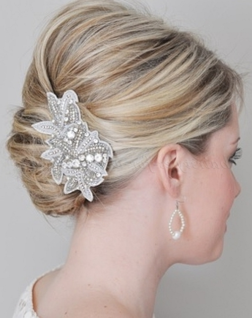 French Twist Wedding Hairstyles – Bridal French Twist | Hairstyles Pertaining To Roll Hairstyles For Wedding (View 5 of 15)