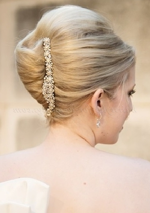 French Twist Wedding Hairstyles – French Twist Wedding Hairstyle Within Roll Hairstyles For Wedding (View 3 of 15)