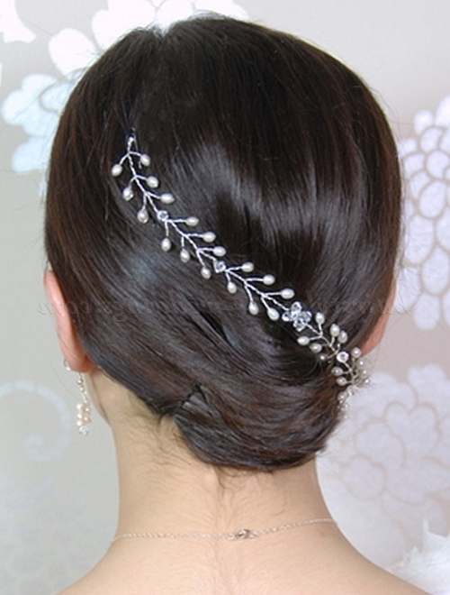 French Twist Wedding Hairstyles – Low French Twist As Wedding Hair With Regard To Roll Hairstyles For Wedding (View 10 of 15)
