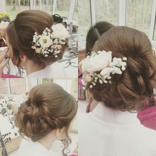 Fresh Flowers In A Soft Messy Updo (View 5 of 15)