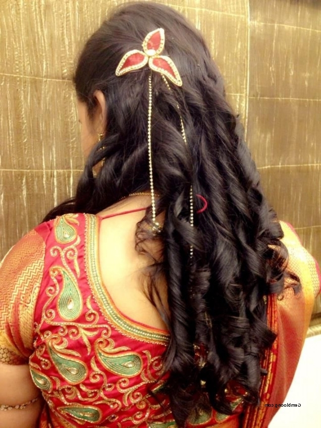 Fresh South Indian Hairstyles For Long Hair For Wedding 2018 Pertaining To Wedding Reception Hairstyles For Long Hair (View 8 of 15)