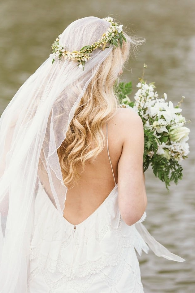 Fresh Wedding Inspiration And Beautiful Bridal Styling | Otters Pertaining To Wedding Hairstyles With Veil And Flower (View 6 of 15)