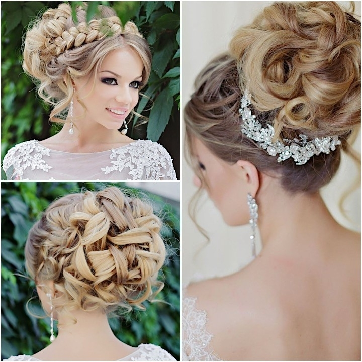 Glamorous Wedding Hairstyles With Elegance – Modwedding Regarding Elegant Updo Wedding Hairstyles (Gallery 5 of 15)