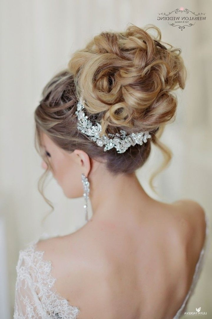 Glamorous Wedding Hairstyles With Elegance   Weddings, Wedding And Throughout High Updos Wedding Hairstyles (Gallery 11 of 15)