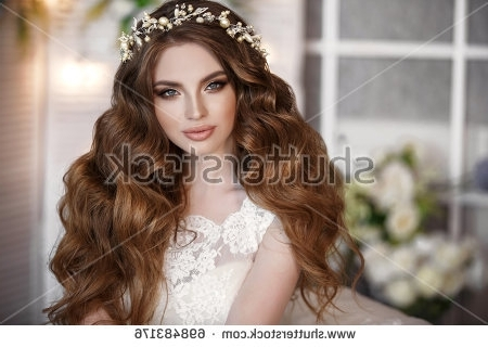 Gorgeous Beauty Young Bride Portrait Beautiful Stock Photo (Edit Now With Wedding Hairstyles For Young Brides (View 12 of 15)