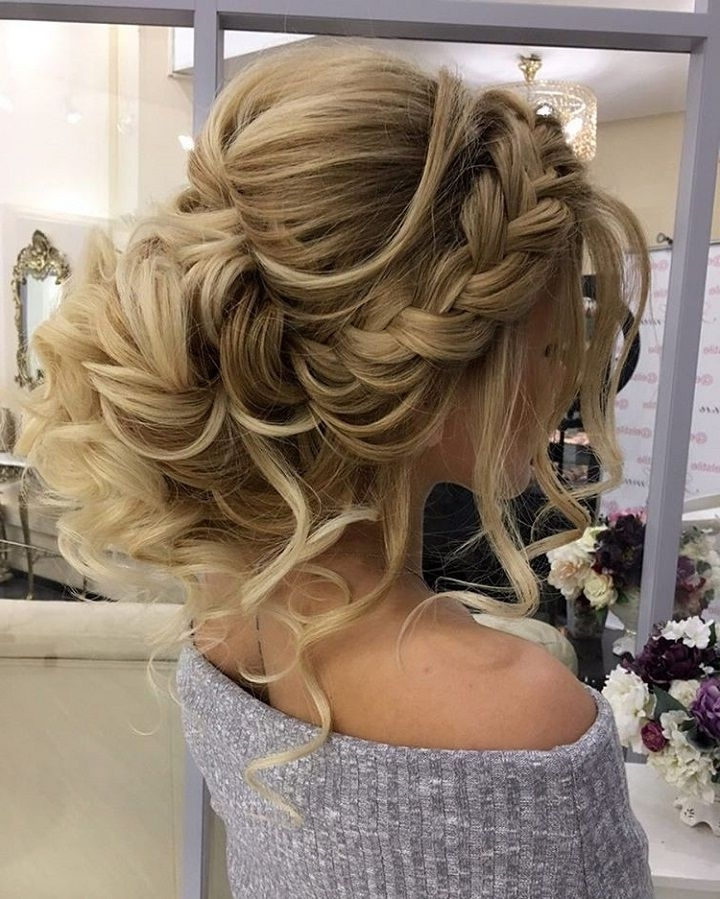 Gorgeous Braided Wedding Hairstyle | Pinterest | Weddings, Prom And Inside Wedding Hairstyles With Plaits (Gallery 11 of 15)