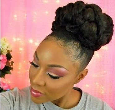 Gorgeous Bridal Bun For Medium Length Natural Hair | Bridal Bun Inside Wedding Hairstyles For Medium Length Natural Hair (Gallery 3 of 15)